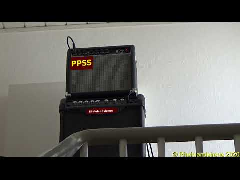 "Sirenenprobe Im Treppenhaus - ""Feueralarm"" Haus-Sirene PPSS 3.0"