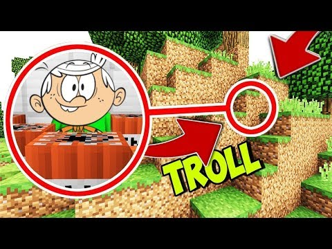 JE TROLL LINCOLN LOUD DANS SA BASE SECRÈTE SUR MINECRAFT ! ? PS4/PS3/XBOX ONE/SWITCH/WIIU kikoo rage thumbnail