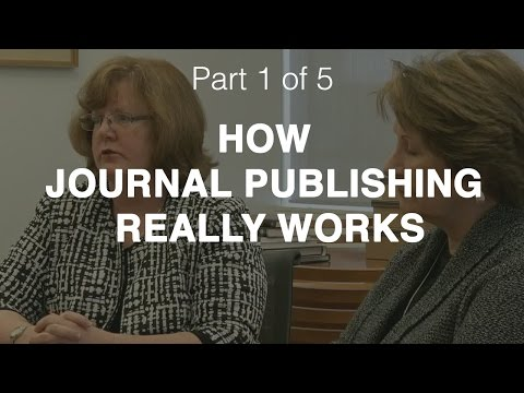 A journal editor and a publisher talk about how journal publishing really works