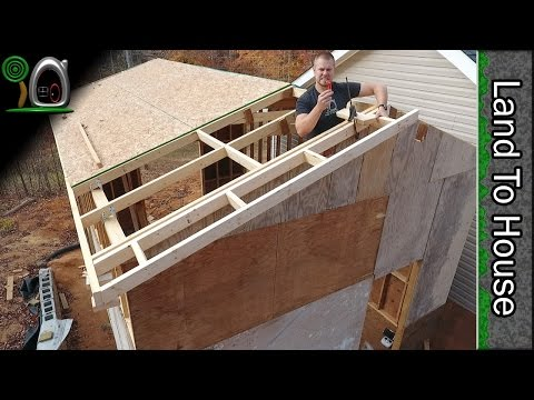 OSB, Ladders, and Metal Roofing - Build a Workshop 12