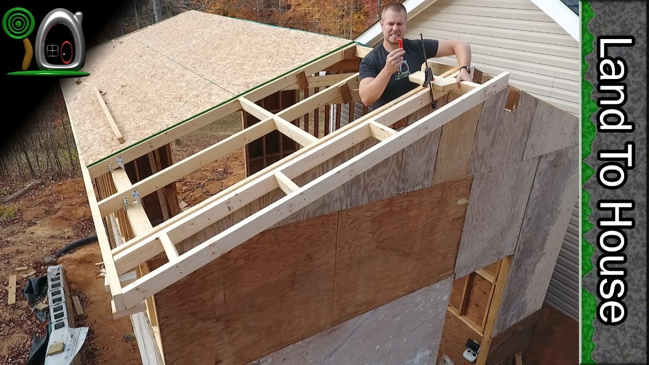 Osb Ladders And Metal Roofing Build A Workshop 12