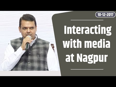 CM Shri Devendra Fadnavis interacting with media at Nagpur