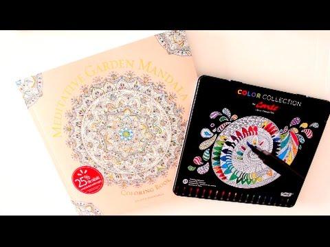 Meditative Garden Mandala Coloring Book Serene Coloring