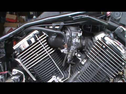 2008 Yamaha V Star 1100 Hypercharger Install Part 1mpg - YouTube