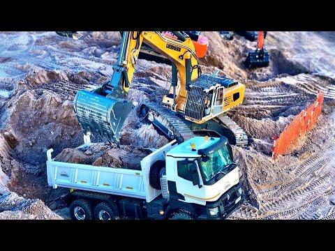 Gran maquinista RC a los mandos Liebherr 956 L.S premacon TOP camiones RC TRUCKS.MONTORO MMT - 동영상