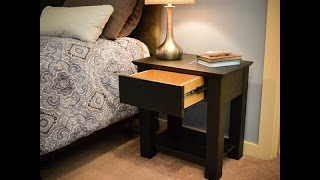 Secret Compartment Nightstand - Hidden Compartment Magnetic Lock Type 2 Demo