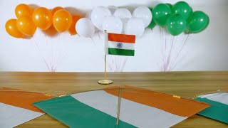 Beautiful festival decoratives for Independence/Republic day celebrations in India