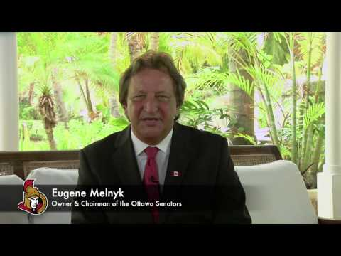 The Senators' Eugene Melnyk proudly discusses the friendship between the Forces and the Senators