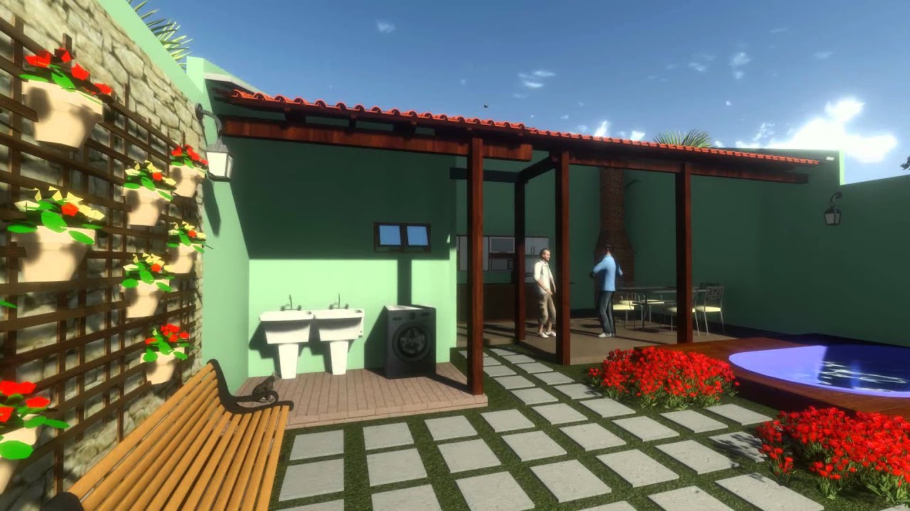 WO Projetos Cozinha e Área de Lazer   #A16C2A 1920 1080