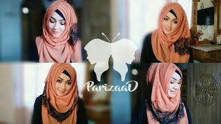 Easy 2 Crisscross Hijab Style for the beginners ft Styline Collection | Pari ZaaD ❤