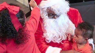Amalah and Nayely Meet Santa Claus