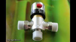 Термостат для выравнивания скачков температуры воды в системе водоснабжения частного дома.