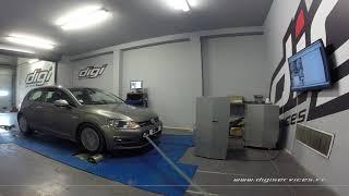 VW Golf 7 1.6 tdi 110cv Reprogrammation Moteur @ 145cv Digiservices Paris 77 Dyno