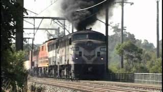 Vintage diesels NSW. Smoke belching locomotives thumbnail