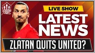 Zlatan Ibramhimovic Quits Manchester United!