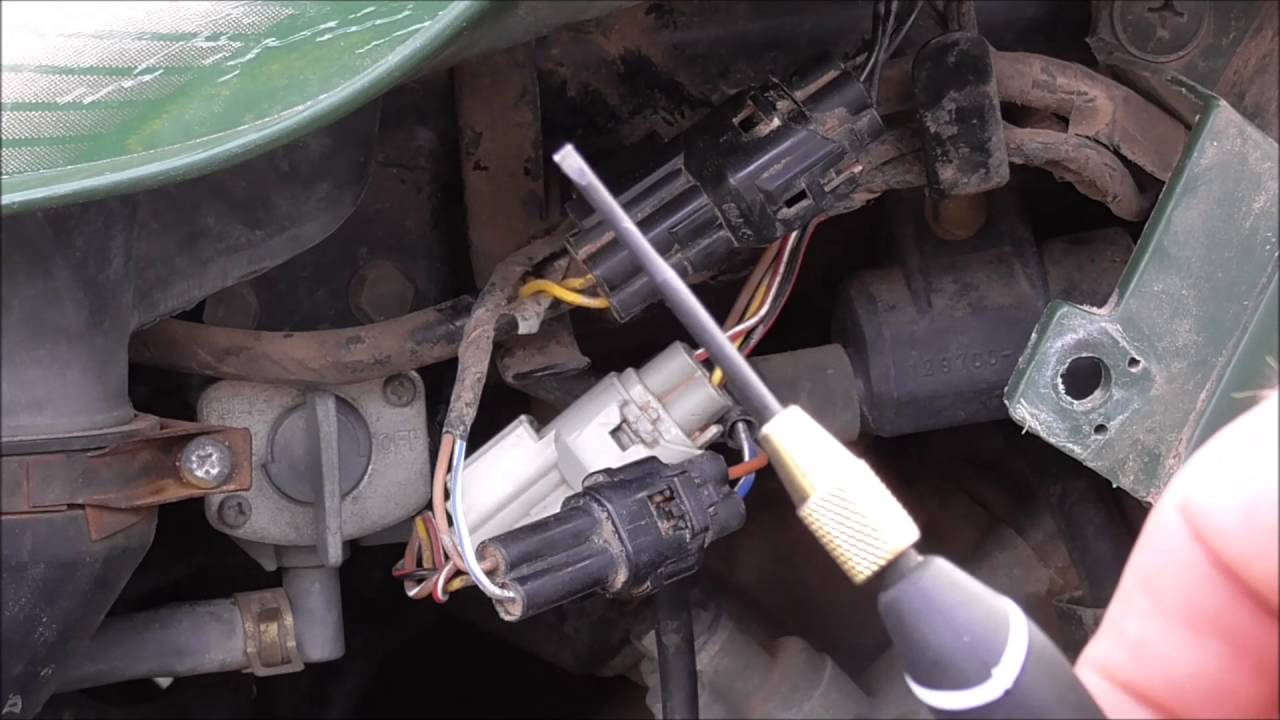 the simple and quick way to reset a flashing belt light on a kawasaki atv [ 1280 x 720 Pixel ]