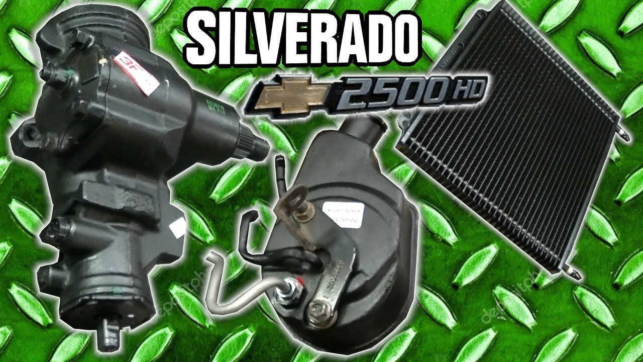 hight resolution of silverado 2500hd power steering pump steering box cooler lines pitman idler arm