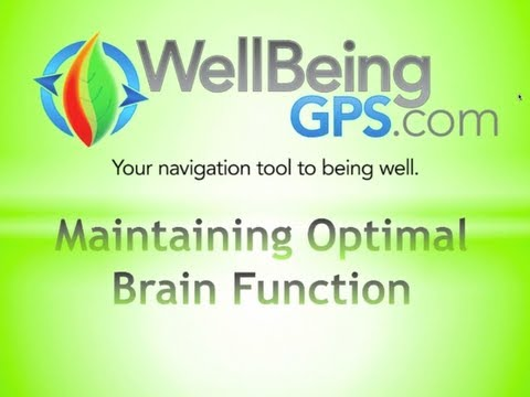 Maintaining Optimal Brain Function // WellBeingGPS.com