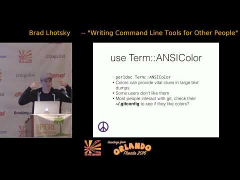 Writing Command Line Tools for Other People