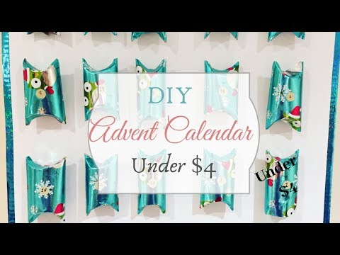 DIY Advent Calendar Made From Paper Towel Rolls + Free Printables