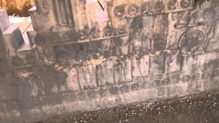 Walk in Persepolis, Tripylon Xerxes hall of audience and Apadana staircase, UNESCO Iran