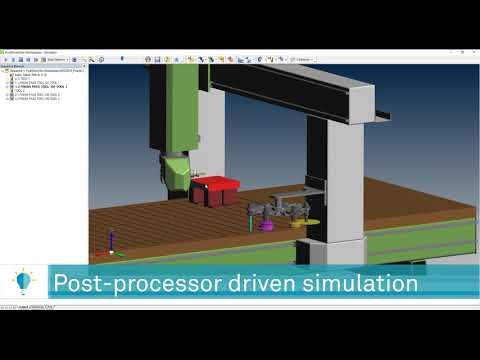 Post Processor Driven Simulation | ALPHACAM 2020.0