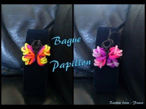 Bague Papillon  Rainbow loom® Tutoriel Français (Niveau Débutant)