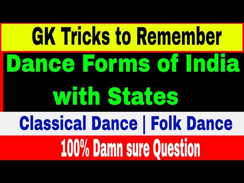 Tricks to Remember ALL Classical Dances | Folk Dances of India | Indian State & it