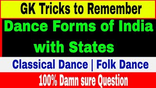 Tricks to Remember Dance forms of India with States | Classical Dance | Folk Dance