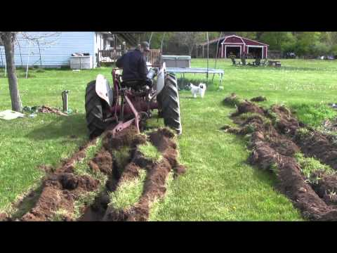 53 Ford Jubilee Tractor Plowing Virgin Soil (Not a How To, Still Learning) LOL