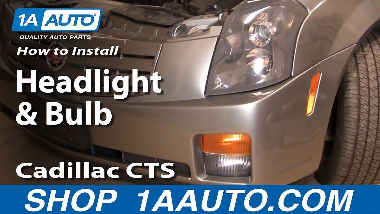 How To Change Headlight Bulb >> How To Install Replace Change Headlight and Bulb Cadillac ...