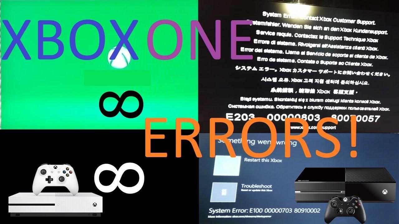 Xbox One All Errors!