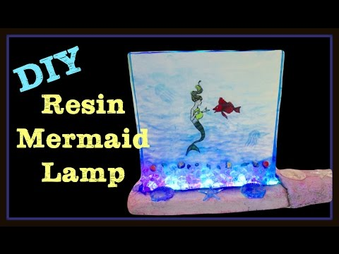 Enchanted Mermaid Resin Art Light DIY ~ Craft Klatch