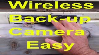 how to install wireless backup camera diy