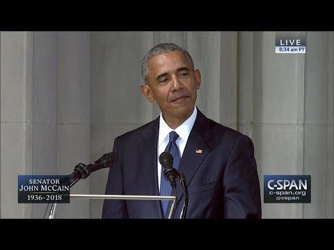 Former President Barack Obama tribute to Senator John McCain — FULL VIDEO (C-SPAN)