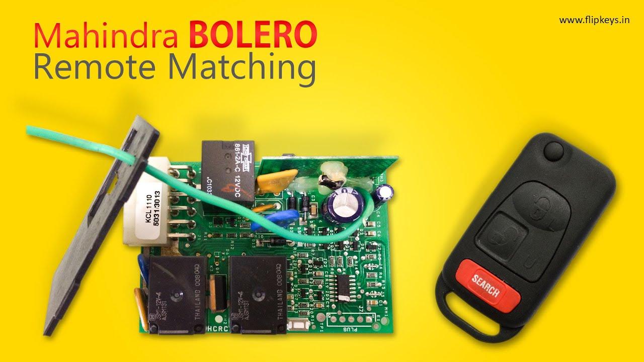 Mahindra Bolero Remote Matching