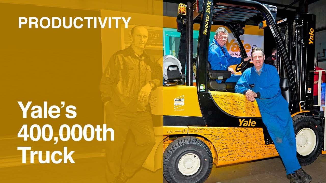 Yale 400,000th forklift truck from Craigavon plant - #Yale400K