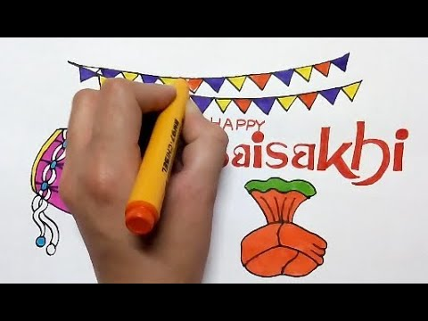 Baisakhi Festival 2019 Drawing How To Draw Baisakhi Festival