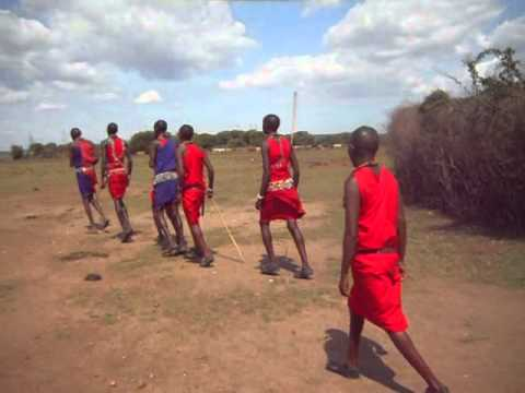 A traditional ceremonial dance for the Masai - Kenya 2013