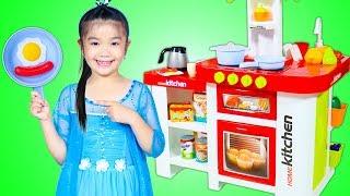 Hana Cooks Pretend Food with Kitchen Toy Set