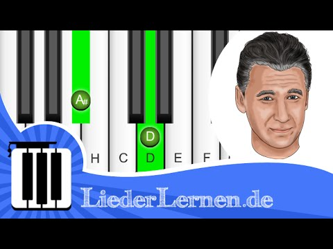 Rainhard Fendrich - Weus'd a Herz hast wia a Bergwerk - Klavier lernen - Musiknoten - Akkorde