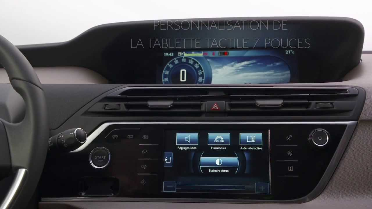 Reglages De La Tablette Tactile Du Citroen C4 Picasso Youtube