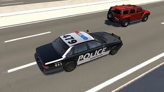 Police Chase Takedowns 3  - BeamNG.Drive Crashes