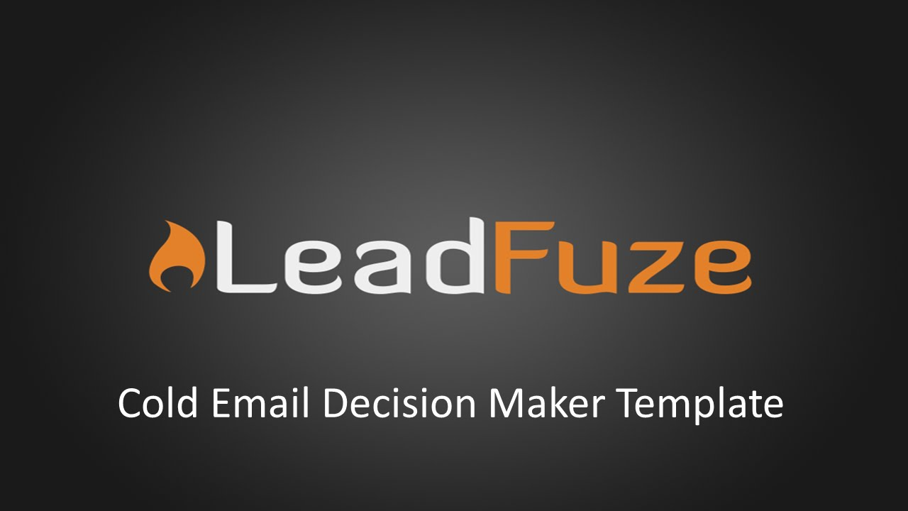 Cold Email to Decision Maker Template - YouTube