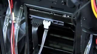 Gaming PC Building Tutorial - Installing Hard Drive + DVD Drive