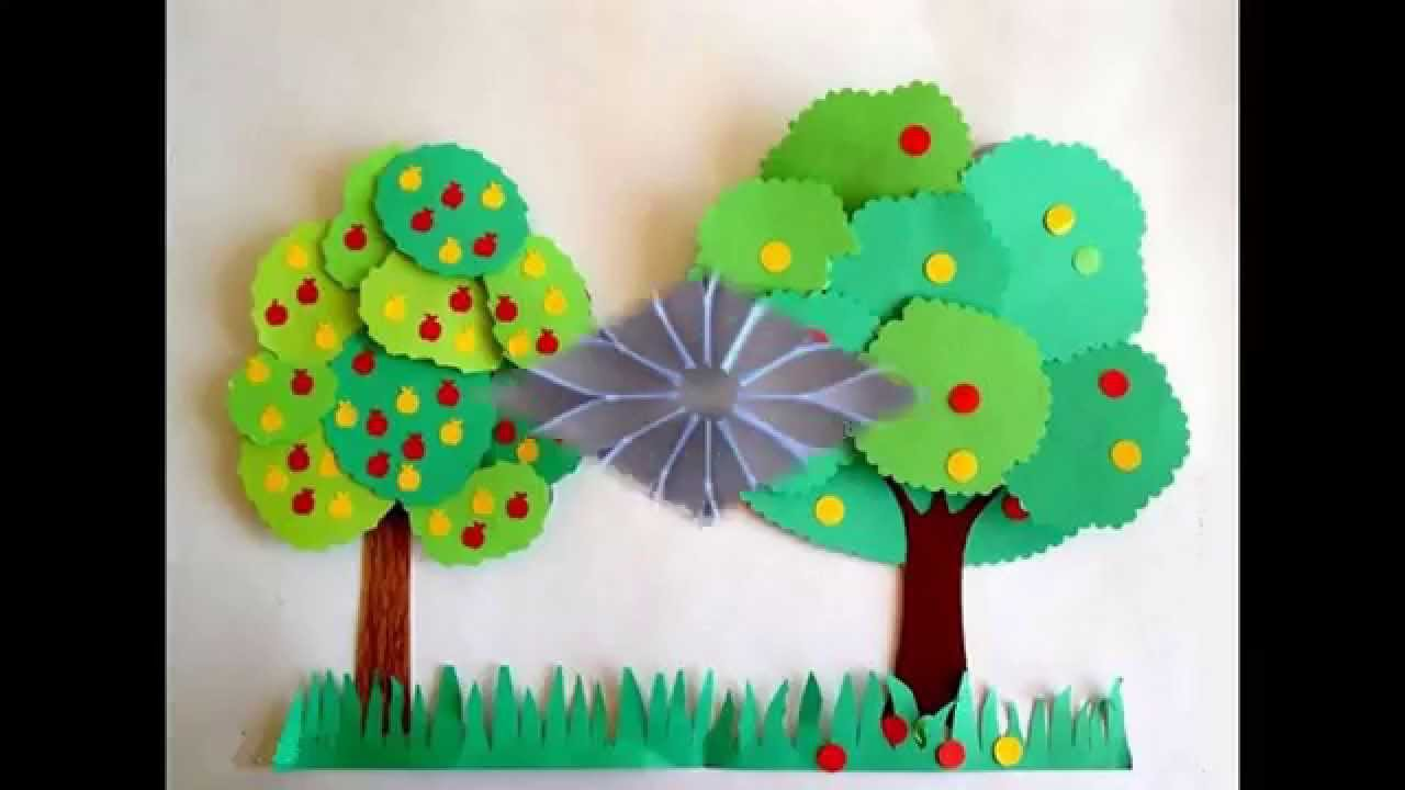 Simple Craft Ideas For Kids Part - 15: Easy And Simple DIY Construction Paper Crafts For Kids - YouTube