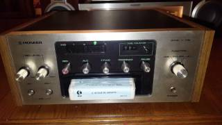 Pioneer tape 8 track HR-99 demo test vintage audio crazy eugene
