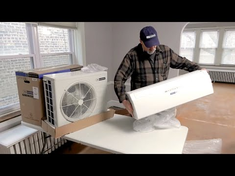How to Install a Ductless MiniSplit Air Conditioner  Blueridge  YouTube