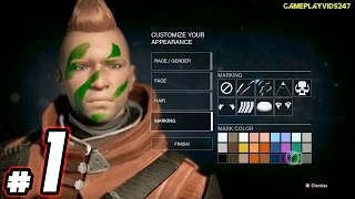 Destiny Xbox 360 Gameplay: Part 1 - Create A Character - The Divide! - Destiny Xbox 360 Walkthrough