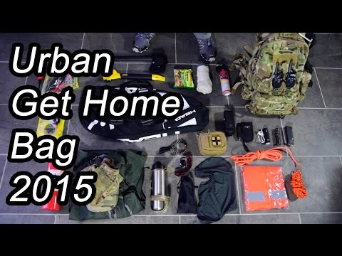 Urban Get Home Bag – emergency car bag – bug out bag alternative
